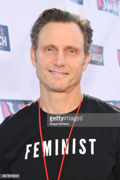 Actor Tony Goldwyn at 2018 Women's March Los Angeles at Pershing Square on January 20 2018 in Los Angeles California