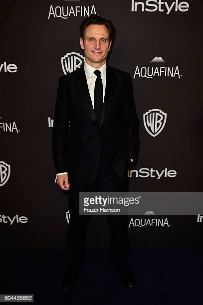 Actor Tony Goldwyn attends InStyle and Warner Bros 73rd Annual Golden Globe Awards PostParty at The Beverly Hilton Hotel on January 10 2016 in...