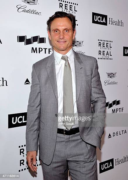 Actor Tony Goldwyn attends the 4th Annual Reel Stories Real Lives benefiting the Motion Picture Television Fund at Milk Studios on April 25 2015 in...
