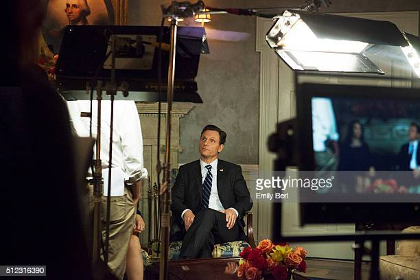 Actor Tony Goldwyn is photographed on set of ABC's 'Scandal' for The Hollywood Reporter on March 14 2013 in Los Angeles California