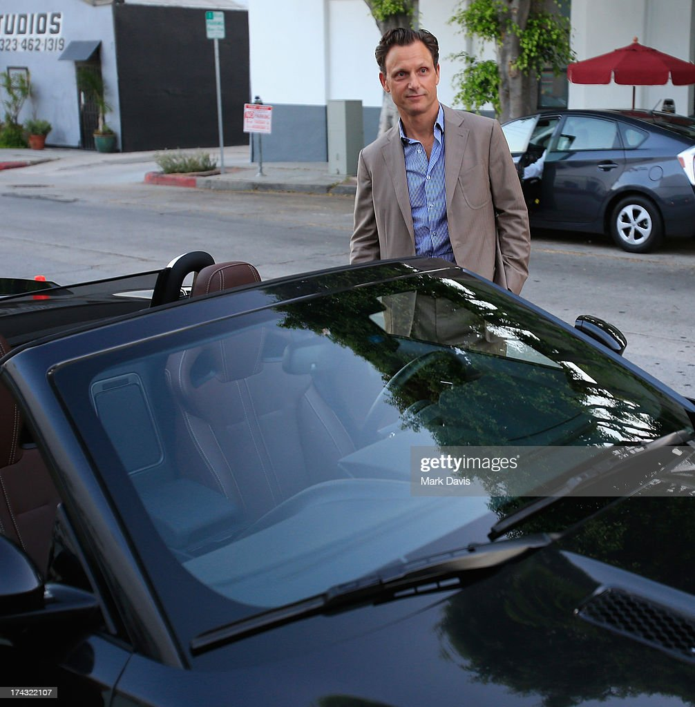 Actor Tony Goldwyn poses at the 'Jaguar and Gilt celebrate #MyTurnToJag' held at Siren Studios on July 23, 2013 in Hollywood, California.