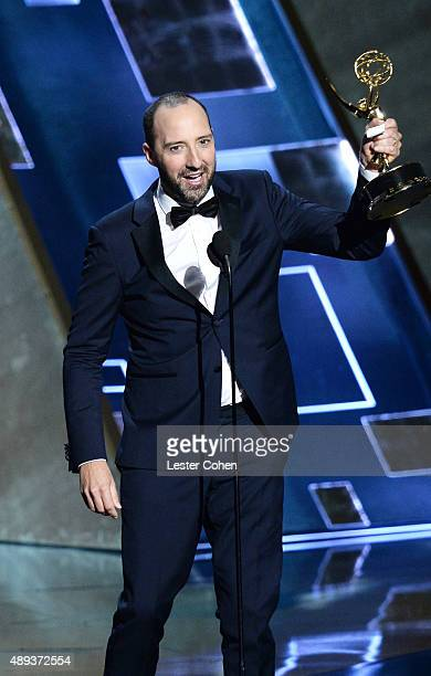 Actor Tony Hale accepts an award onstage during the 67th Annual Primetime Emmy Awards at Microsoft Theater on September 20 2015 in Los Angeles...