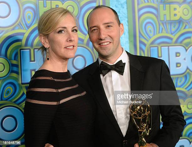 Actor Tony Hale and Martel Hale attend HBO's Annual Primetime Emmy Awards Post Award Reception at The Plaza at the Pacific Design Center on September...