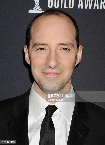 Actor Tony Hale arrives at the 16th Costume Designers Guild Awards at The Beverly Hilton Hotel on February 22 2014 in Beverly Hills California