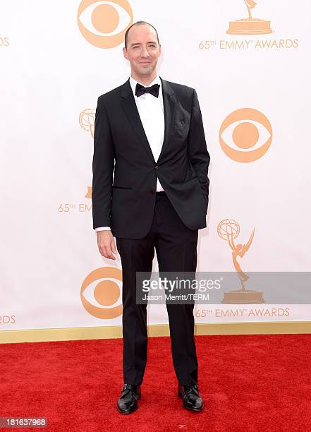 Actor Tony Hale arrives at the 65th Annual Primetime Emmy Awards held at Nokia Theatre LA Live on September 22 2013 in Los Angeles California