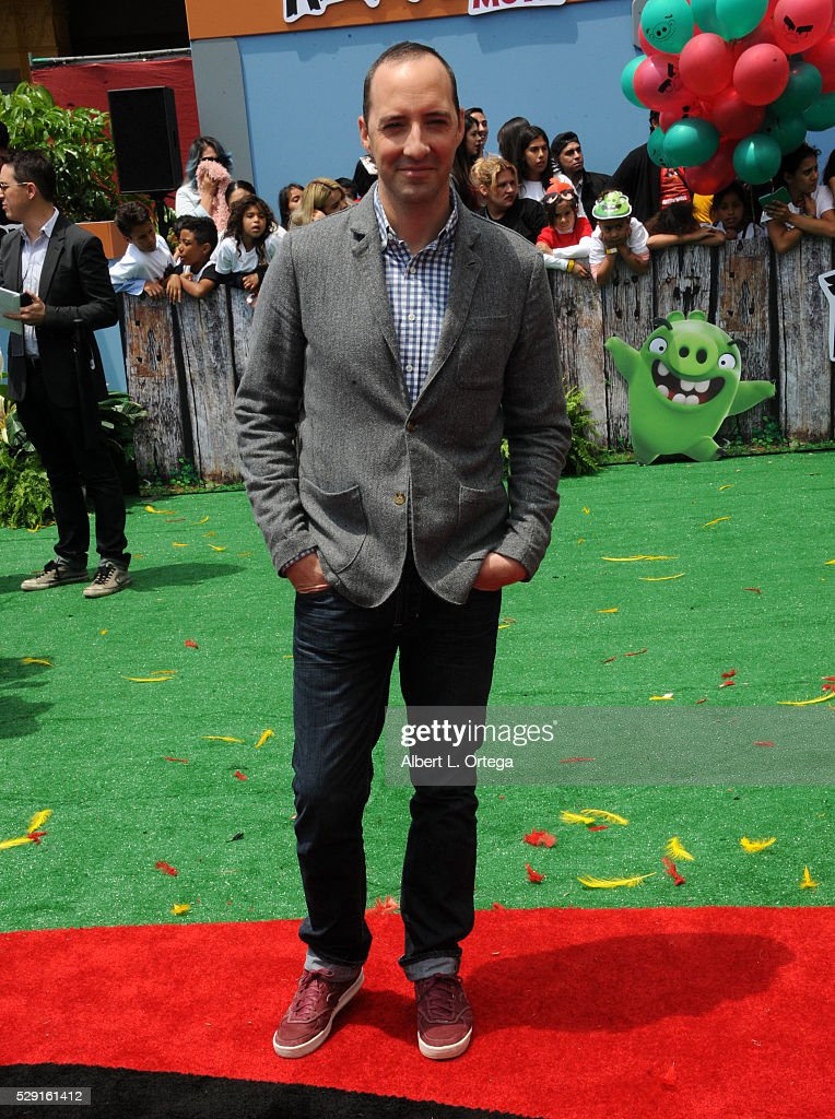 Actor Tony Hale arrives for the Premiere Of Sony Pictures' 'Angry Birds' held at Regency Village Theatre on May 7, 2016 in Westwood, California.