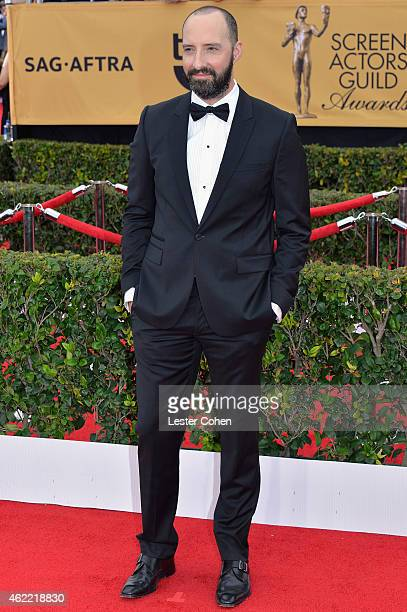 Actor Tony Hale attends the 21st Annual Screen Actors Guild Awards at The Shrine Auditorium on January 25 2015 in Los Angeles California