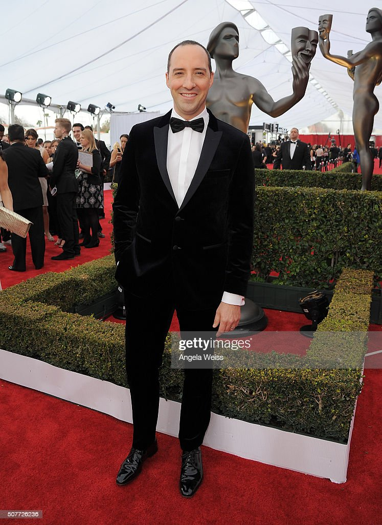 Actor Tony Hale attends the 22nd Annual Screen Actors Guild Awards at The Shrine Auditorium on January 30, 2016 in Los Angeles, California.