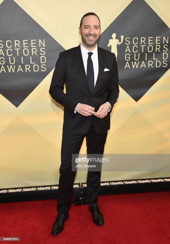 Actor Tony Hale attends the 24th Annual Screen Actors Guild Awards at The Shrine Auditorium on January 21, 2018 in Los Angeles, California.