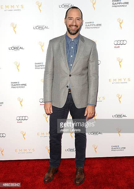 Actor Tony Hale attends the Television Academy's celebration for the 67th Emmy Award nominees for outstanding performances at Pacific Design Center...