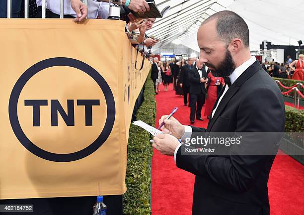 Actor Tony Hale attends TNT's 21st Annual Screen Actors Guild Awards at The Shrine Auditorium on January 25 2015 in Los Angeles California 25184_017