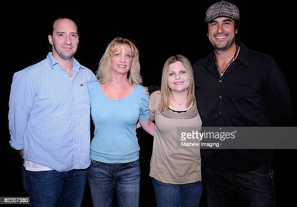Actor Tony Hale writer Robin Mesger writer Stacey Levin and actor Mike Bortone at a reading of The Good The Good The Bad And The Unbelievable True...