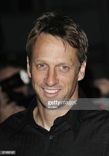 Actor Tony Hawk arrives at Gumball 3000 film premiere 2006 rally launch party at Savoy Place on April 29 2006 in London England