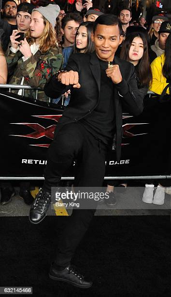 Actor Tony Jaa arrives at the premiere of Paramount Pictures' 'xXx Return Of Xander Cage' at TCL Chinese Theatre IMAX on January 19 2017 in Hollywood...