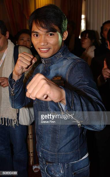 Actor Tony Jaa attends the announcement of '2005 Bangkok International Film Festival' Reception during 57th International Cannes Film Festival at the...