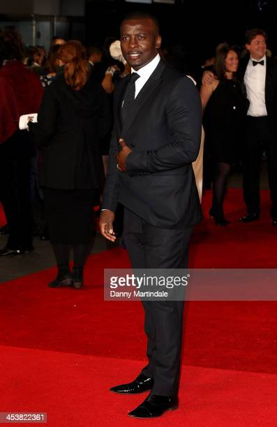 Actor Tony Kgoroge attends the Royal film performance of Mandela Long Walk To Freedom at Odeon Leicester Square on December 5 2013 in London United...