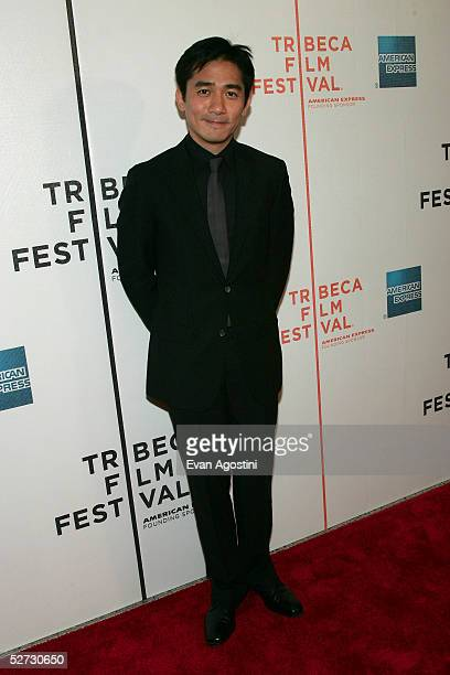 Actor Tony Leung attends the Screening Of 2046 at The Tribeca Film Festival April 28 2005 in New York City