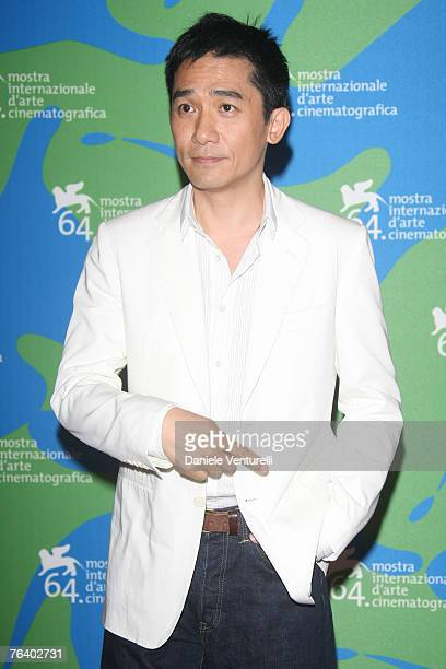 Actor Tony Leung attends the Se, Jei photocall during Day 2 of the 64th Annual Venice Film Festival on August 30, 2007 in Venice, Italy.
