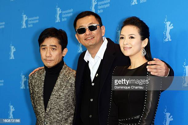 Actor Tony Leung Chiu Wai director Wong Kar Wai and actress Ziyi Zhang attend 'The Grandmaster' Photocall during the 63rd Berlinale International...