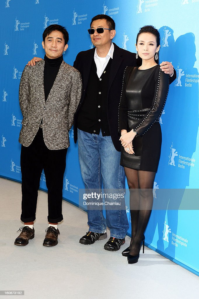 Actor Tony Leung Chiu Wai, director Wong Kar Wai and actress Ziyi Zhang attend 'The Grandmaster' Photocall during the 63rd Berlinale International Film Festival at The Grand Hyatt Hotel on February 7, 2013 in Berlin, Germany.