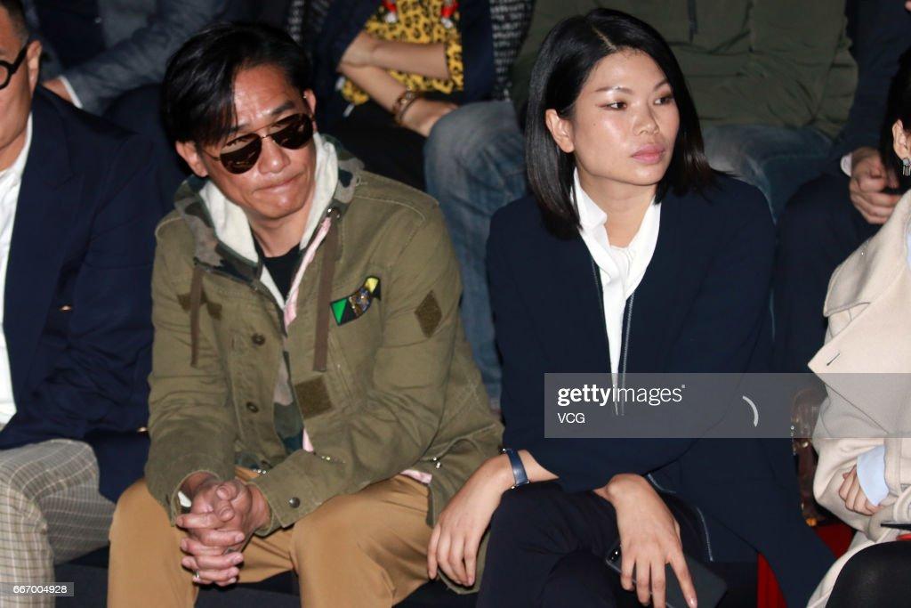 Actor Tony Leung Chiu-wai and fashion model Lv Yan attend