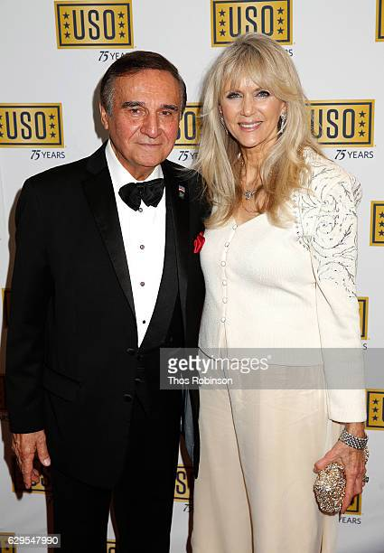 Actor Tony Lo Bianco and Alyse Lo Bianco attend the USO 75th Anniversary Armed Forces Gala Gold Medal Dinner at Marriott Marquis Times Square on...