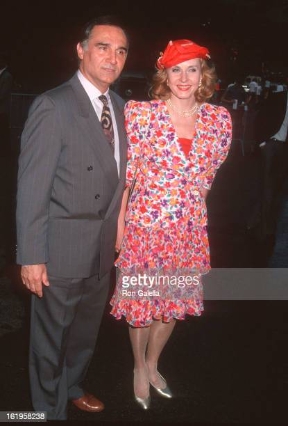 """Actor Tony Lo Bianco and TV reporter Pia Lindstrom attend the Fresh Air Fund's """"Party in the Park"""" Benefit on May 11, 1993 at the Tavern on the Green..."""