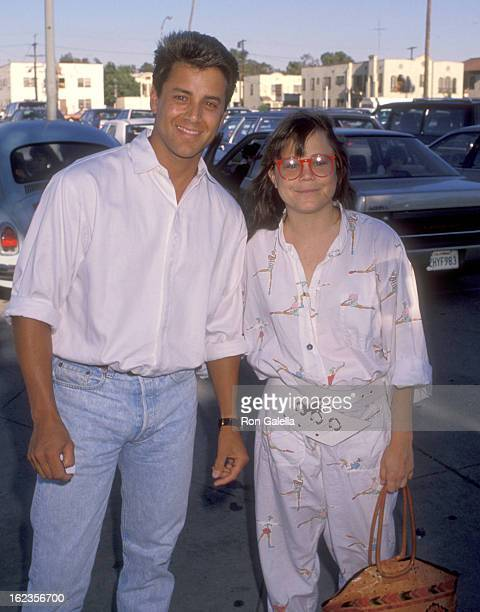 Actor Tony O'Dell and Actress Dana Hill attend the Ringling Bros and Barnum Bailey Circus Performance on July 31 1990 at Los Angeles Sports Arena in...