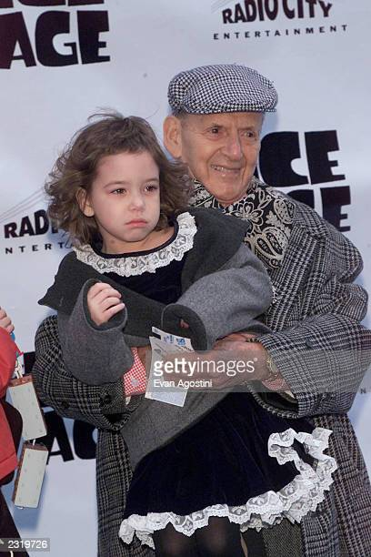 Actor Tony Randall with his daughter Julia arriving at the World Premiere of Twentieth Century Fox's Ice Age at Radio City Music Hall in New York...