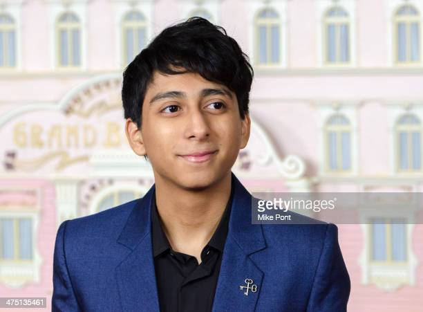 Actor Tony Revolori attends The Grand Budapest Hotel premiere at Alice Tully Hall on February 26 2014 in New York City
