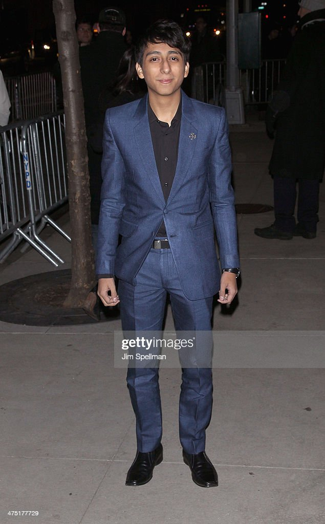 Actor Tony Revolori attends the 'The Grand Budapest Hotel' New York Premiere at Alice Tully Hall on February 26, 2014 in New York City.