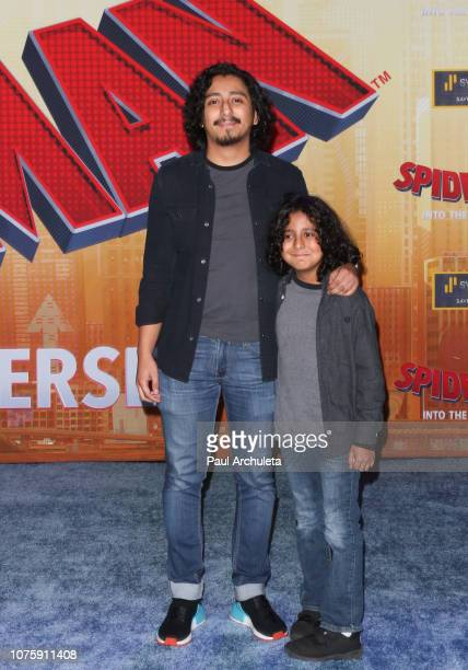 Actor Tony Revolori attends the world premiere of Sony Pictures Animation and Marvel's SpiderMan Into The SpiderVerse at The Regency Village Theatre...