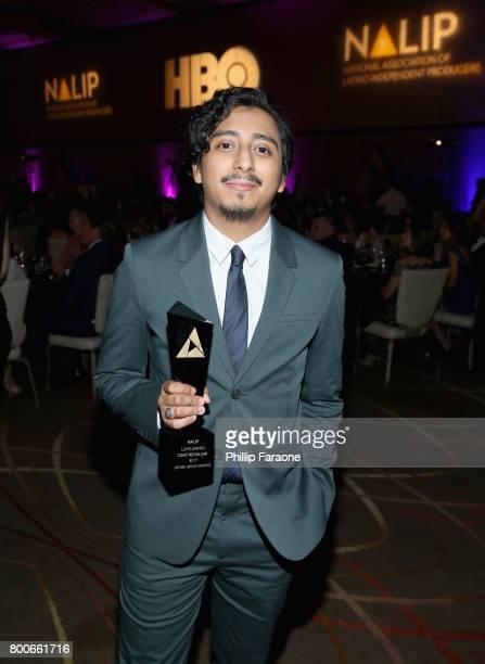 Actor Tony Revolori poses with an award at the NALIP Latino Media Awards at The Ray Dolby Ballroom at Hollywood Highland Center on June 24 2017 in...