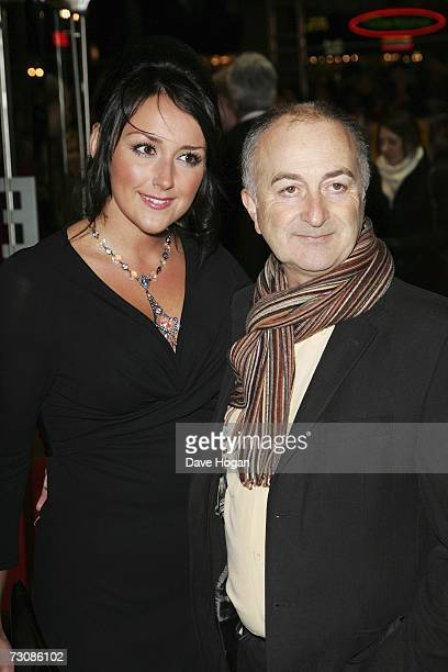 Actor Tony Robinson and Louise Hobbs arrive at the UK premiere of Blood Diamond at Odeon Leicester Square on January 23 2007 in London England