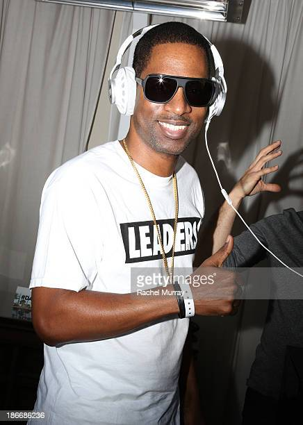 Actor Tony Rock attends JBL 'Dare to Listen' Synchros S700 Headphone Los Angeles launch with DJ Jermaine Dupri at W Hollywood on November 2 2013 in...