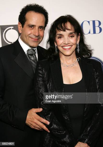 Actor Tony Shalhoub and actress Brooke Adams attend the 59th Annual Tony Awards at Radio City Music Hall June 5 2005 in New York City