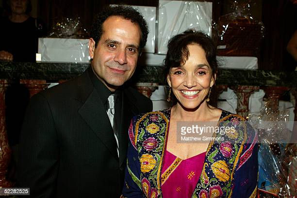 Actor Tony Shalhoub and actress Brooke Adams attend the Junior League's An Evening in the Ciy of Light Gala Benefit at the Regent Beverly Wilshire...