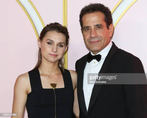 Actor Tony Shalhoub and his Daughter Sophie Shalhoub attend the Amazon Prime Video post 2018 Emmy Awards party at Cecconi's on September 17 2018 in...