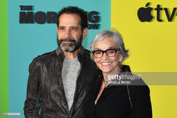 US actor Tony Shalhoub and wife US actress Brooke Adams arrive for Apples The Morning Show global premiere at Lincoln Center David Geffen Hall on...