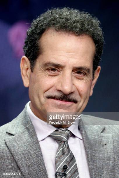 Actor Tony Shalhoub of 'The Marvelous Mrs Maisel' speaks onstage during the Amazon Studios portion of the Summer 2018 TCA Press Tour at The Beverly...