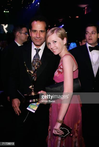 Actor Tony Shalhoub with daughter Sophie attends the Governor's Ball after the 58th Annual Primetime Emmy Awards at the Shrine Auditorium on August...