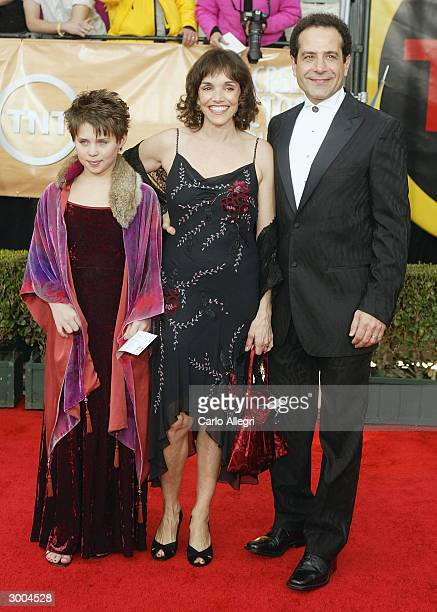 Actor Tony Shalhoub with his wife Brooke Adams and their daughter Sophie attend the 10th Annual Screen Actors Guild Awards at the Shrine Auditorium...