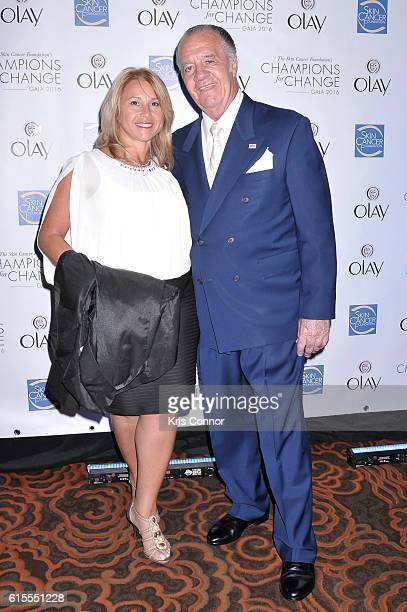 Actor Tony Sirico and guest attend the 2016 Skin Cancer Foundation Media Award at the Mandarin Oriental New York on October 18 2016 in New York City
