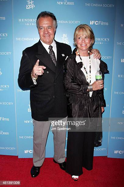 Actor Tony Sirico and wife attends The Cinema Society and The New Yorker screening of In The Loop at IFC Center on July 13 2009 in New York City