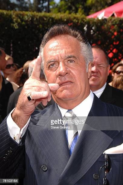 Actor Tony Sirico arrives at the 59th Annual Primetime Emmy Awards at the Shrine Auditorium on September 16 2007 in Los Angeles California