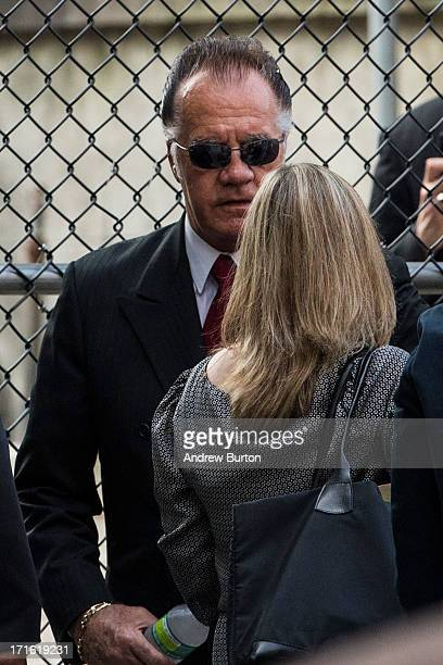 Actor Tony Sirico arrives for actor James Gandolfini's funeral at The Cathedral Church of St John the Divine on June 27 2013 in New York City...