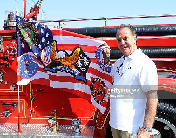Actor Tony Sirico attends the 2012 Wounded Warrior Adaptive Sports Program at Rescue Ladder Company on July 12 2012 in the Staten Island borough of...