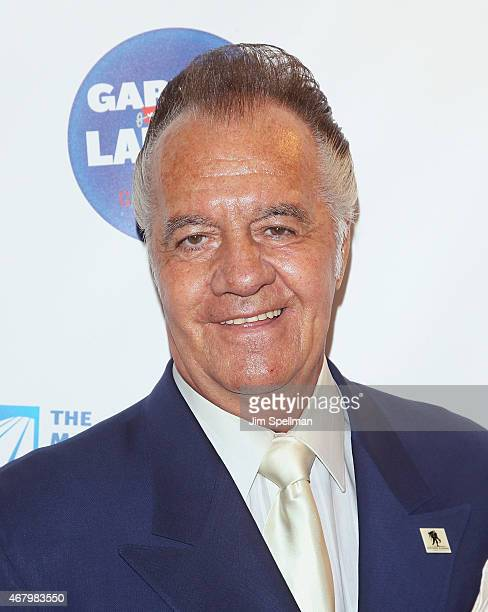 Actor Tony Sirico attends the 2015 Garden Of Laughs Comedy Benefit at the Club Bar and Grill at Madison Square Garden on March 28 2015 in New York...