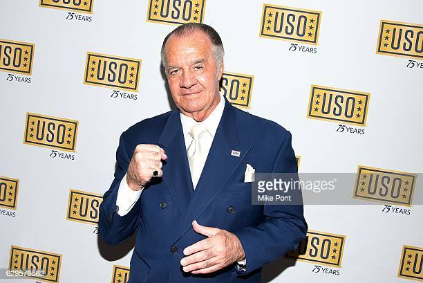 Actor Tony Sirico attends the 75th Anniversary USO Armed Forces Gala at the Marriott Marquis Hotel on December 13 2016 in New York City