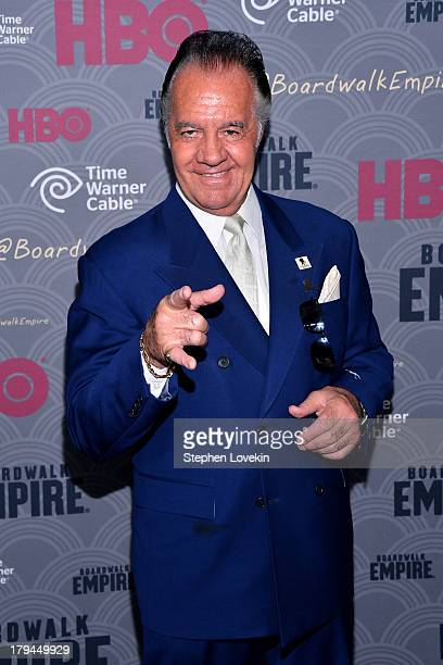 Actor Tony Sirico attends the 'Boardwalk Empire' season four New York premiere at Ziegfeld Theater on September 3 2013 in New York City